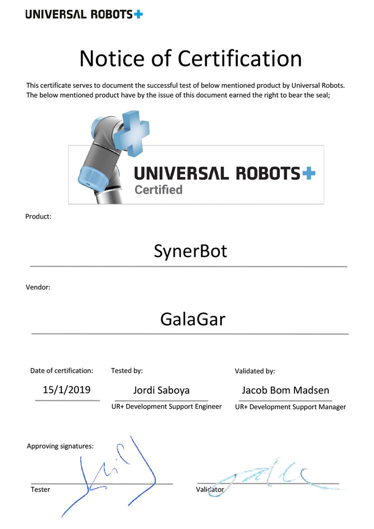 Partner UNIVERSAL ROBOTS