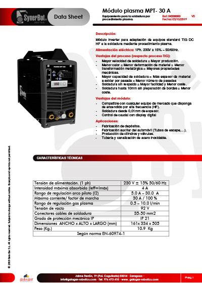 Catálogo Módulo MPT-30